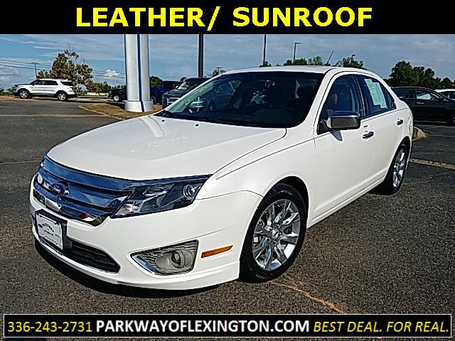 White Platinum Metallic Tri-Coat 2011 Ford Fusion SEL 4D Sedan Lexington NC