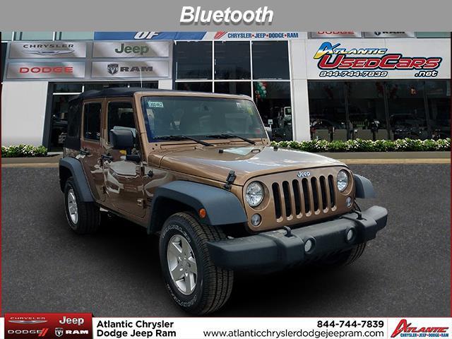 Copper Brown Pearlcoat 2015 Jeep Wrangler Unlimited SPORT SUV Huntington NY