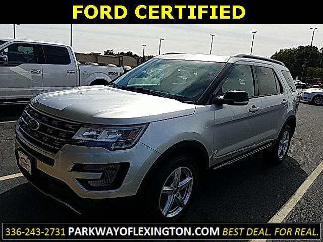 Ingot Silver Metallic 2016 Ford Explorer XLT 4D Sport Utility Lexington NC