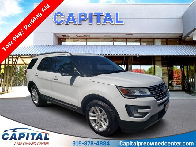 Oxford White 2016 Ford Explorer XLT 4D Sport Utility Raleigh NC
