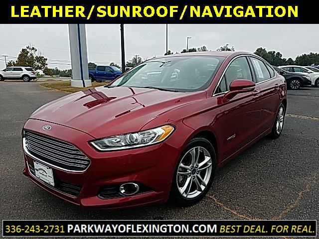 Ruby Red Metallic Tinted Clearcoat 2016 Ford Fusion TITANIUM HYBRID 4D Sedan Lexington NC