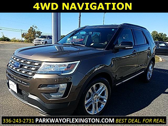 Brown 2016 Ford Explorer XLT 4D Sport Utility Lexington NC