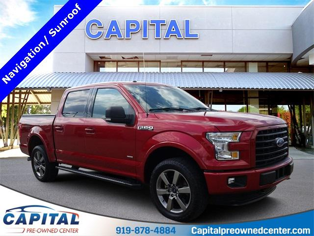 Ruby Red Metallic Tinted Clearcoat 2016 Ford F-150 XLT 4D SuperCrew Raleigh NC