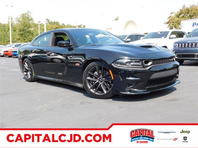 Pitch Black Clearcoat 2019 Dodge Charger SCAT PACK 4dr Car Raleigh NC