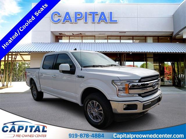 Oxford White 2019 Ford F-150 LARIAT 4D SuperCrew Raleigh NC
