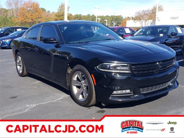 Pitch Black Clearcoat 2016 Dodge Charger SXT 4dr Car Raleigh NC