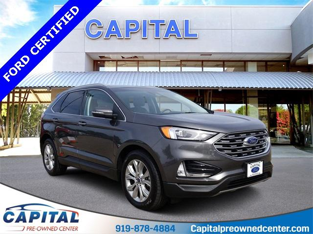 Magnetic Metallic 2019 Ford Edge TITANIUM 4D Sport Utility Raleigh NC