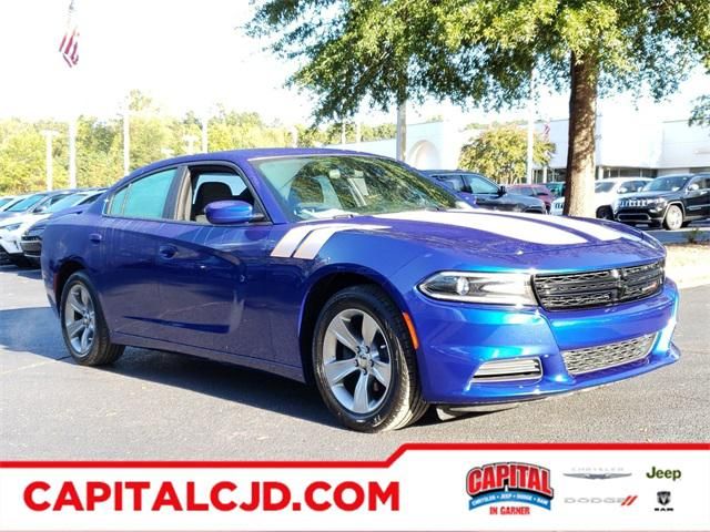 Indigo Blue 2018 Dodge Charger SXT 4dr Car Raleigh NC