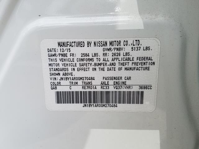 2016 INFINITI Q70 4dr Sdn V6 AWD 29