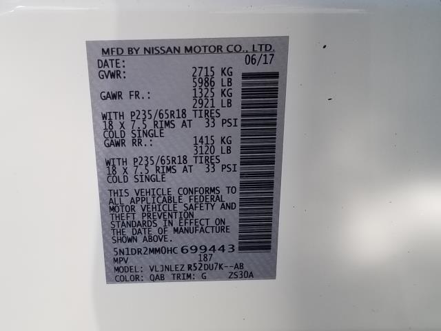 2017 Nissan Pathfinder SV 29
