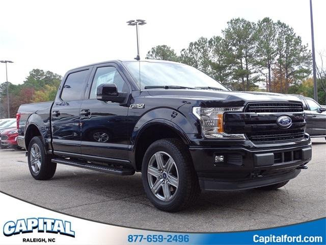 Black Metallic 2019 Ford F-150 LARIAT 4D SuperCrew Raleigh NC