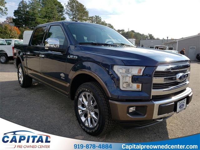Blue Jeans Metallic 2016 Ford F-150 KING RANCH 4D SuperCrew Raleigh NC