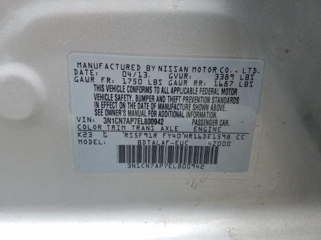 2014 Nissan Versa 4dr Sdn Manual 1.6 S 29
