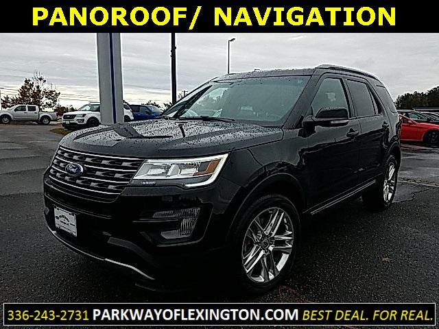 Shadow Black 2017 Ford Explorer XLT 4D Sport Utility Lexington NC