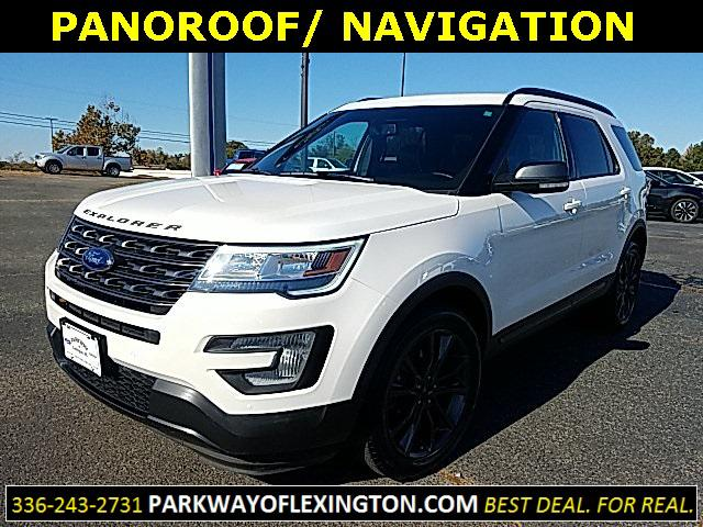 White Platinum Metallic Tri-Coat 2017 Ford Explorer XLT 4D Sport Utility Lexington NC