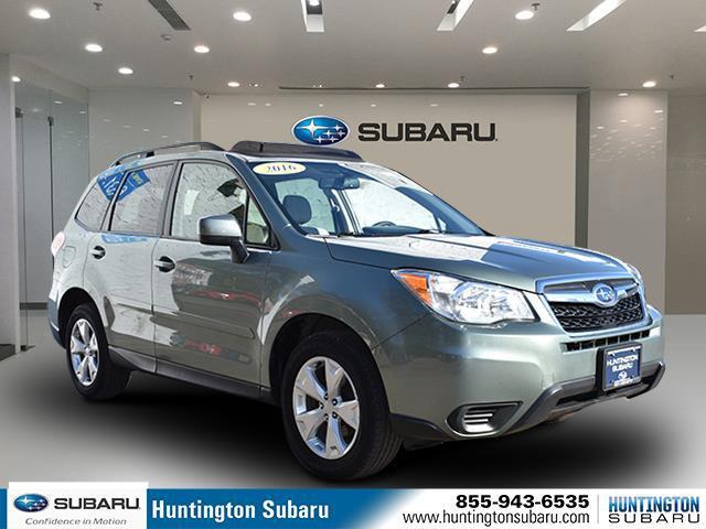 Jasmine Green Metallic 2016 Subaru Forester 2.5I PREMIUM SUV Huntington NY