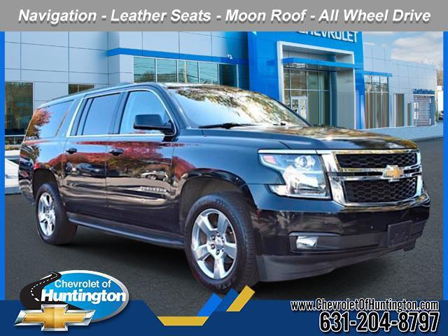 Black 2016 Chevrolet Suburban LT SUV Huntington NY
