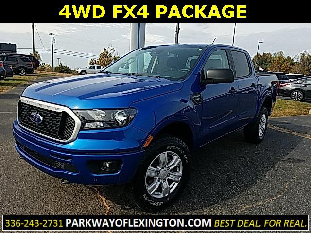 Lightning Blue Metallic 2019 Ford Ranger XLT 4D Crew Cab Lexington NC