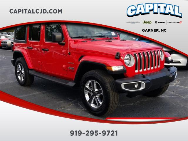 Red Clearcoat 2019 Jeep Wrangler Unlimited SAHARA SUV Garner NC