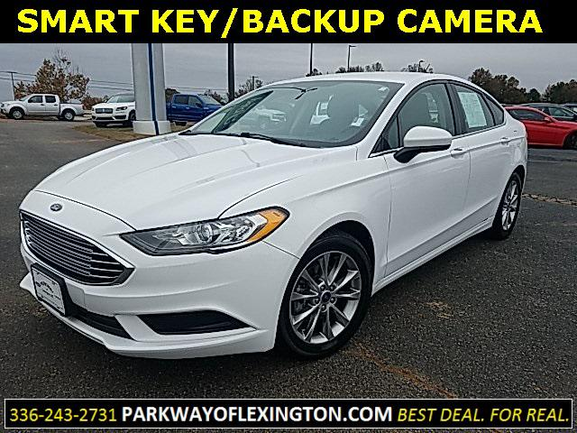 Oxford White 2017 Ford Fusion SE 4D Sedan Lexington NC
