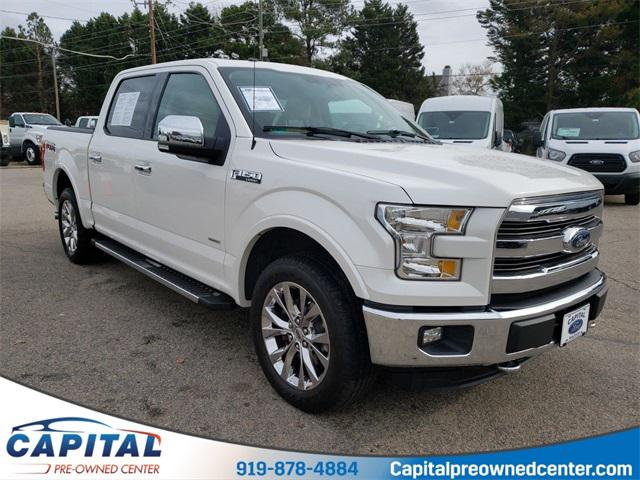 Oxford White 2016 Ford F-150 LARIAT Short Bed Raleigh NC