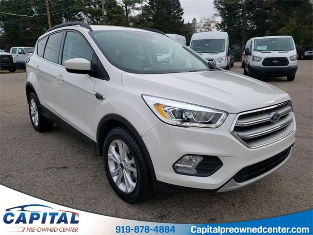 White Platinum Metallic Tri-Coat 2017 Ford Escape SE SUV Raleigh NC