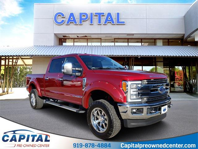 Red 2017 Ford Super Duty F-250 Srw LARIAT Crew Pickup Raleigh NC