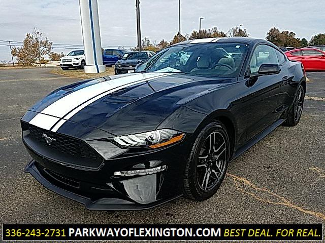 Shadow Black 2019 Ford Mustang ECOBOOST PREMIUM 2D Coupe Lexington NC