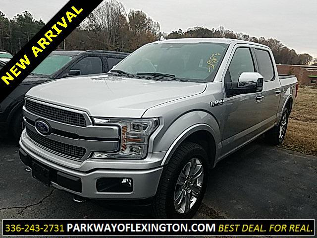 Ingot Silver Metallic 2019 Ford F-150 PLATINUM 4D SuperCrew Lexington NC