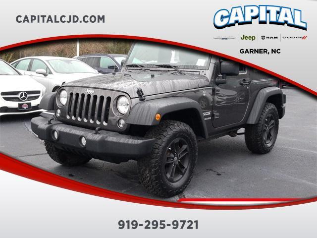 Granite Crystal Metallic Clearcoat 2017 Jeep Wrangler SPORT SUV Garner NC