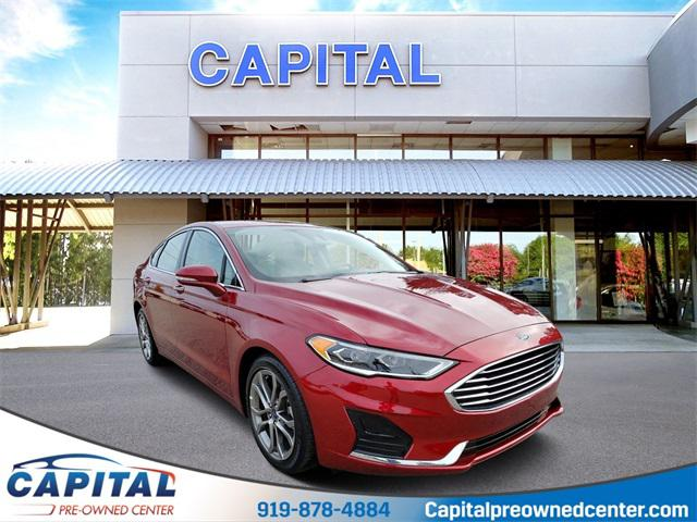 Ruby Red Metallic Tinted Clearcoat 2019 Ford Fusion SEL 4D Sedan Raleigh NC
