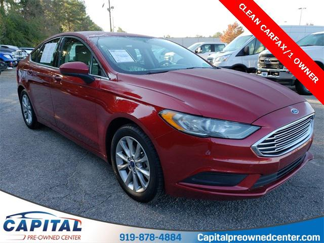 Ruby Red Metallic Tinted Clearcoat 2017 Ford Fusion SE 4D Sedan Raleigh NC