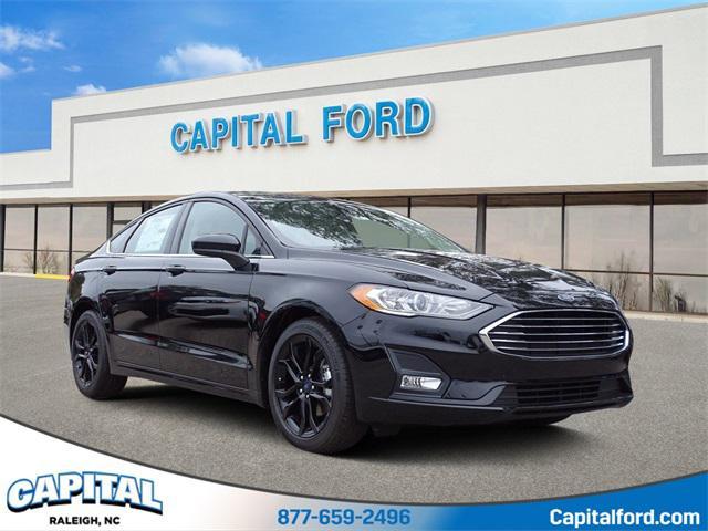 Black Metallic 2020 Ford Fusion SE 4D Sedan Raleigh NC