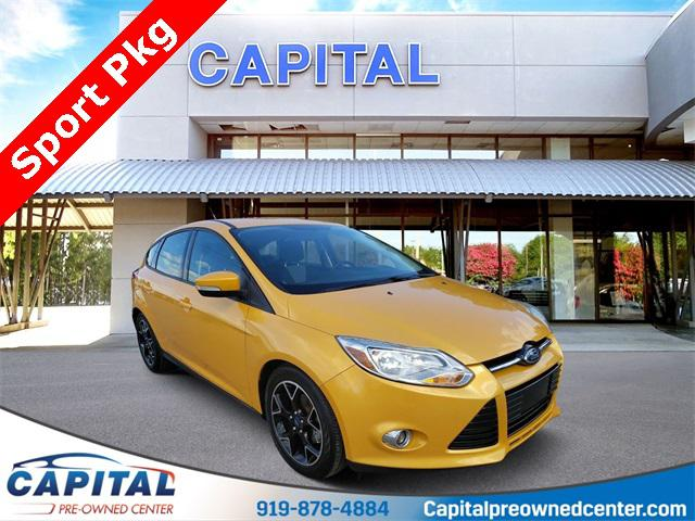 Yellow Blaze Metallic Tri-coat 2012 Ford Focus SE 4D Hatchback Raleigh NC