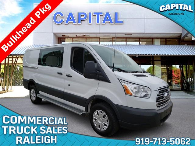 Oxford White 2018 Ford Transit-250 LOW ROOF CARGO VAN 3D Low Roof Cargo Van Raleigh NC