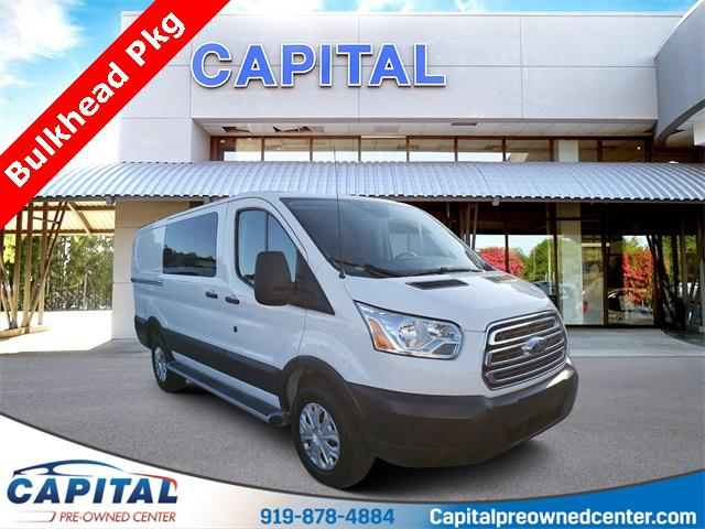 Oxford White 2018 Ford Transit-250  3D Low Roof Cargo Van Raleigh NC