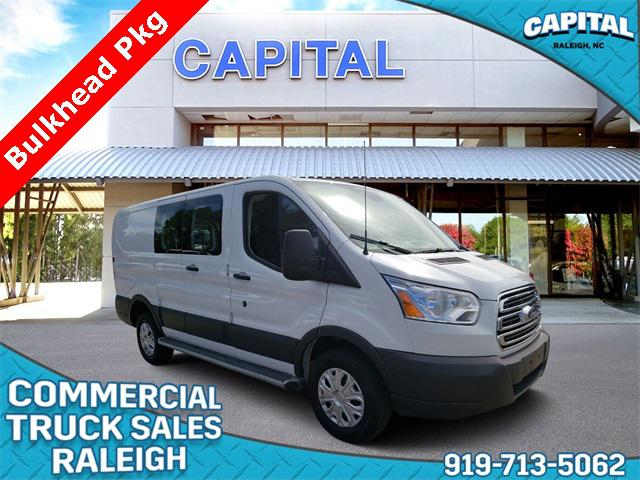 Oxford White 2018 Ford Transit-250 COMMERCIAL 3D Low Roof Cargo Van Raleigh NC