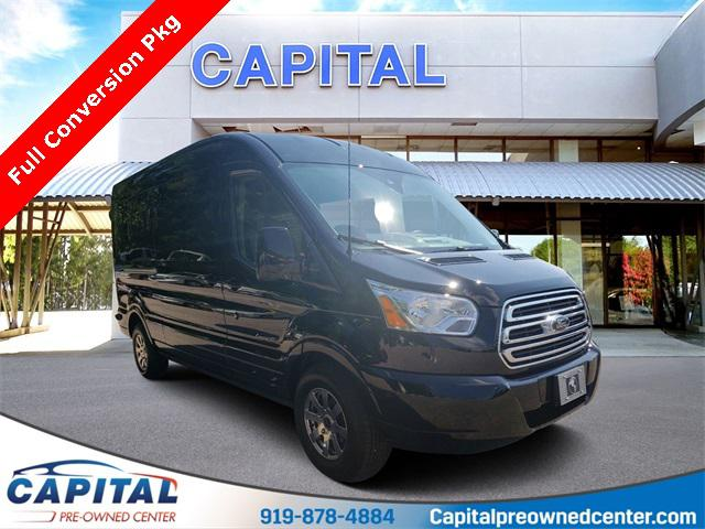 Shadow Black 2019 Ford Transit-250 Conversion Van 3D Medium Roof Cargo Van Winston-Salem NC