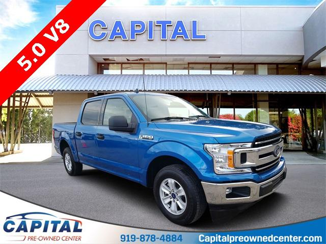 Velocity Blue Metallic 2019 Ford F-150 XLT 4D SuperCrew Raleigh NC