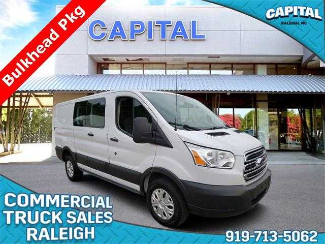 Oxford White 2018 Ford Transit-250 LOW ROOF CARGO 3D Low Roof Cargo Van Raleigh NC