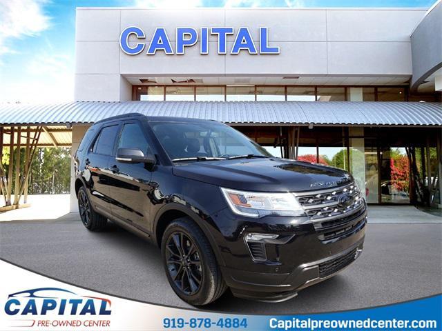 Agate Black Metallic 2019 Ford Explorer XLT 4D Sport Utility Raleigh NC