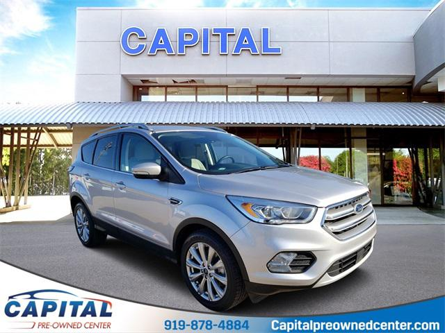 Ingot Silver Metallic 2017 Ford Escape TITANIUM 4D Sport Utility Raleigh NC