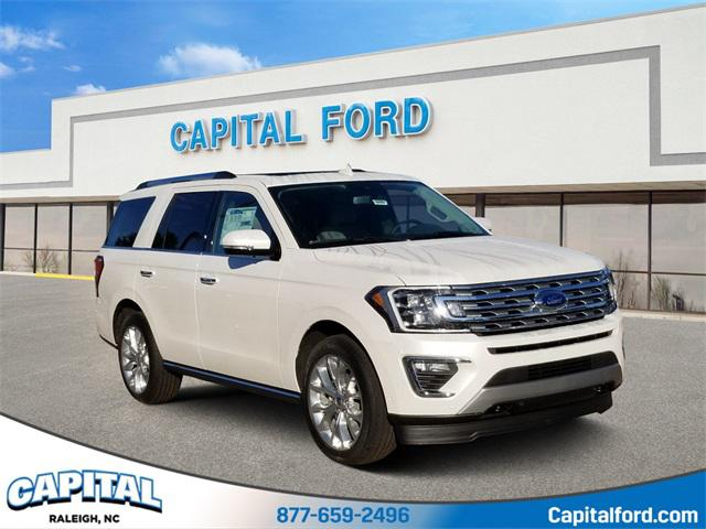 White Metallic 2019 Ford Expedition LIMITED 4D Sport Utility Raleigh NC