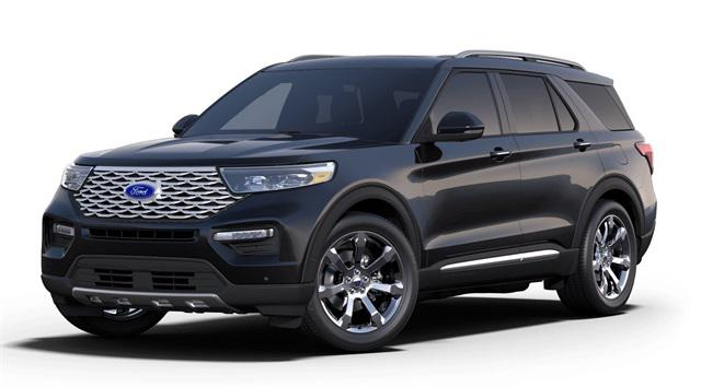 Black Metallic 2020 Ford Explorer PLATINUM 4D Sport Utility Raleigh NC