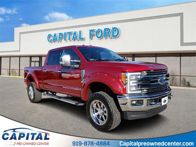 Red 2017 Ford F-250Sd LARIAT 4D Crew Cab Raleigh NC