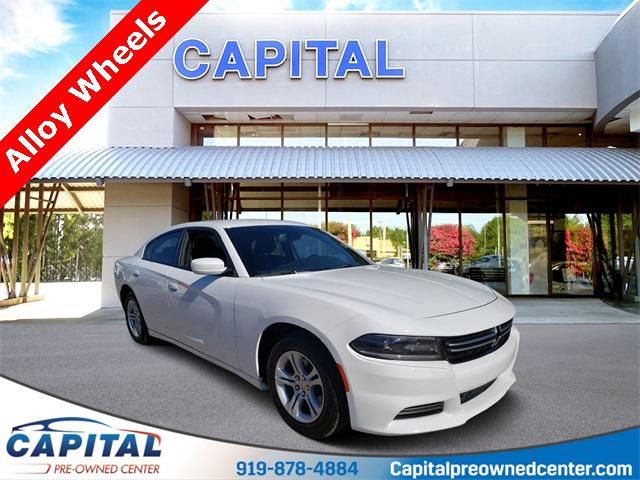 Bright White Clearcoat 2016 Dodge Charger SE 4D Sedan Raleigh NC