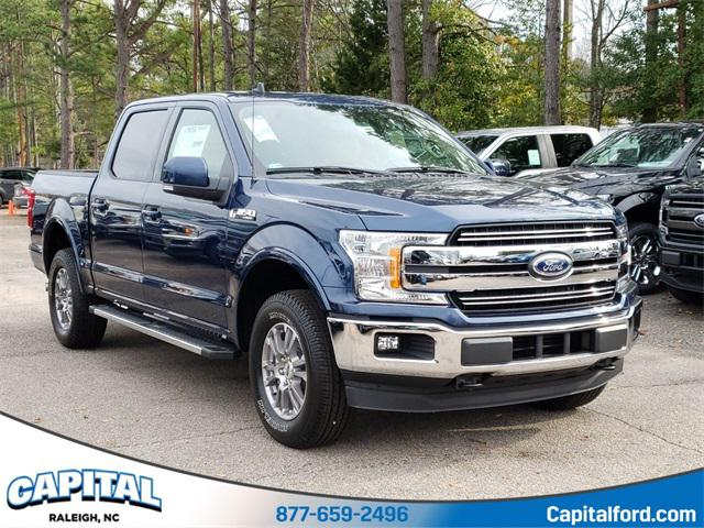 Blue 2020 Ford F-150 LARIAT 4D SuperCrew Raleigh NC