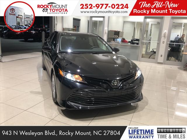 Midnight Black Metallic 2019 Toyota Camry LE 4dr Car Rocky Mount NC