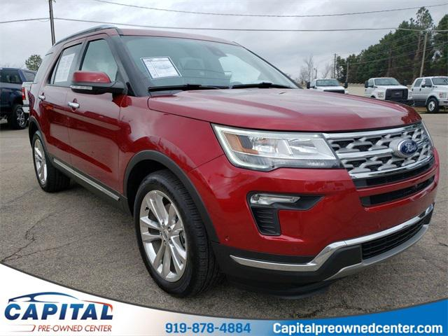 Ruby Red Metallic Tinted Clearcoat 2019 Ford Explorer LIMITED 4D Sport Utility Raleigh NC