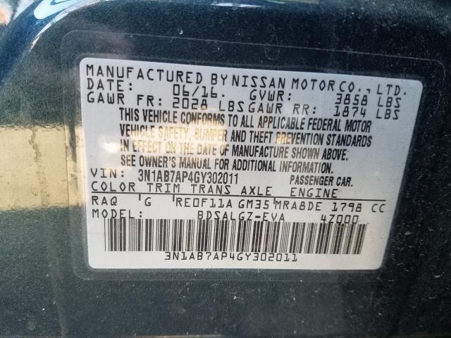 2016 Nissan Sentra 4dr Sdn I4 CVT SL 29